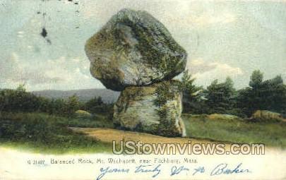 Balanced Rock, Mt Wachusett - Fitchburg, Massachusetts MA Postcard