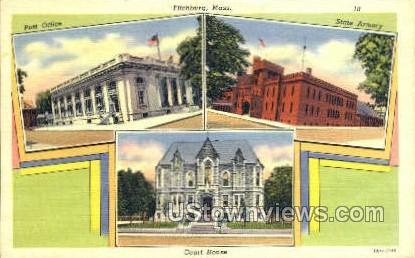 Post Office, Court House - Fitchburg, Massachusetts MA Postcard