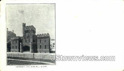 Armory - Fitchburg, Massachusetts MA Postcard