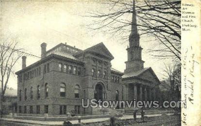 Library, Art Museum,  - Fitchburg, Massachusetts MA Postcard
