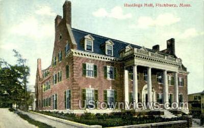 Hastings Hall - Fitchburg, Massachusetts MA Postcard