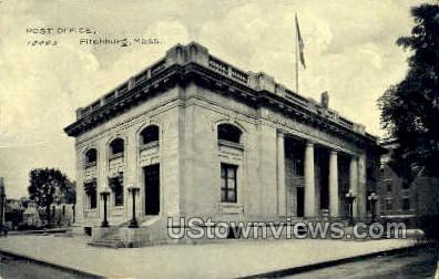 Post Office - Fitchburg, Massachusetts MA Postcard