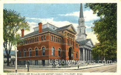 Wallace Library, Art Building - Fitchburg, Massachusetts MA Postcard