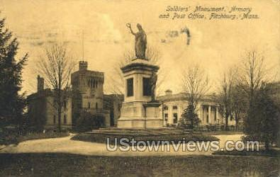 Soldiers' Monument, Armory - Fitchburg, Massachusetts MA Postcard