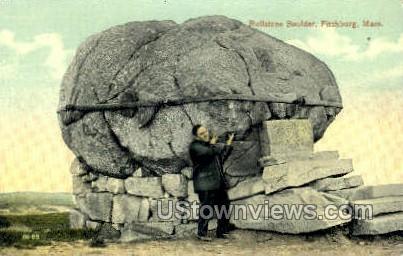 Rollstone Boulder - Fitchburg, Massachusetts MA Postcard