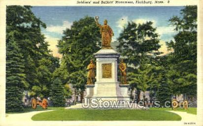 Soldiers' & Sailors' Monument - Fitchburg, Massachusetts MA Postcard