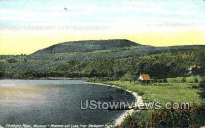 Wachusett Mountain & Lake - Fitchburg, Massachusetts MA Postcard