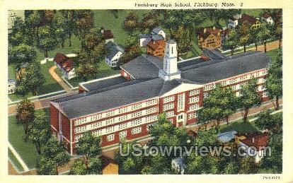 Fitchburg High School - Massachusetts MA Postcard