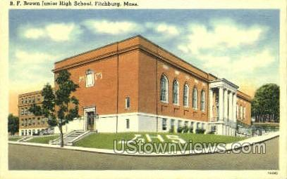 B.F. Brown Junior High School - Fitchburg, Massachusetts MA Postcard