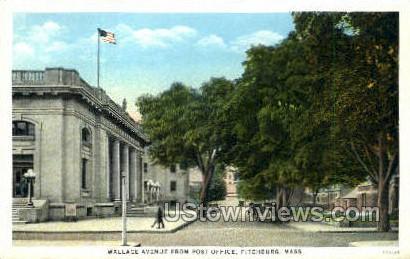 Wallace Ave. - Fitchburg, Massachusetts MA Postcard