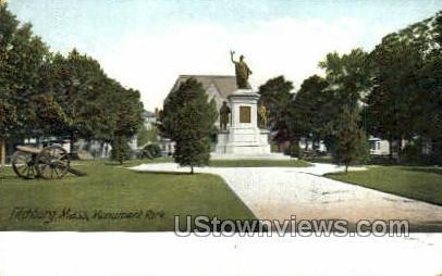 Monument Park - Fitchburg, Massachusetts MA Postcard
