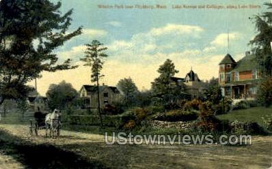 Lake Ave. & Cottages - Fitchburg, Massachusetts MA Postcard