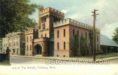 The Armory - Fitchburg, Massachusetts MA Postcard
