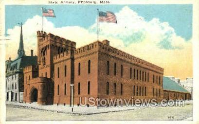 State Armory - Fitchburg, Massachusetts MA Postcard