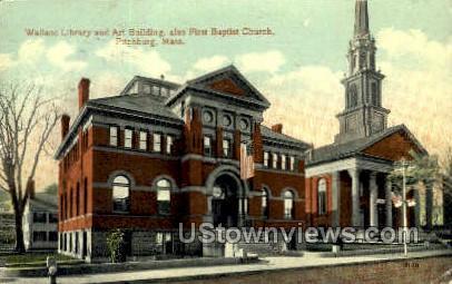 First Baptist Church - Fitchburg, Massachusetts MA Postcard