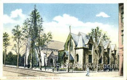 Congregational Church - Fitchburg, Massachusetts MA Postcard