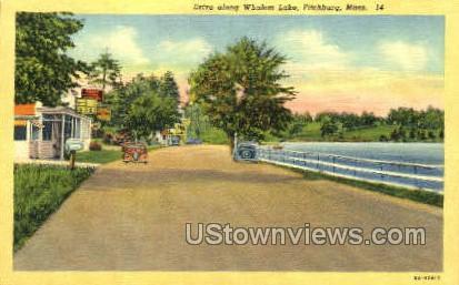 Drive, Whalom Lake - Fitchburg, Massachusetts MA Postcard