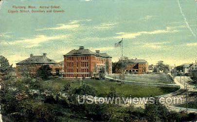 Normal School, Edgarly School - Fitchburg, Massachusetts MA Postcard