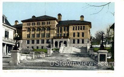 The Wallace Way & High School - Fitchburg, Massachusetts MA Postcard