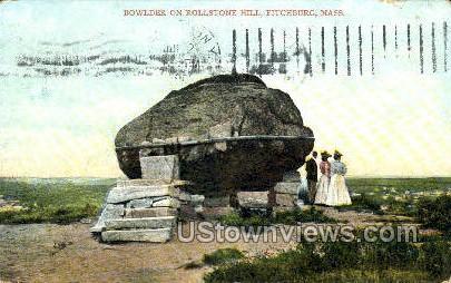 Bowlder, Rollstone Hill - Fitchburg, Massachusetts MA Postcard