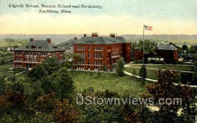 Edgarly School, Normal School - Fitchburg, Massachusetts MA Postcard