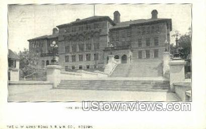 The High School - Fitchburg, Massachusetts MA Postcard
