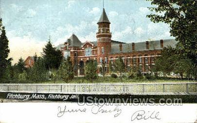 Fitchburg Jail - Massachusetts MA Postcard