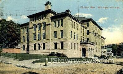 High School - Fitchburg, Massachusetts MA Postcard