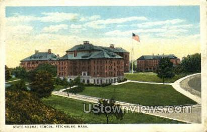 State Normal School - Fitchburg, Massachusetts MA Postcard