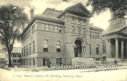 Wallace Library & Arts Building - Fitchburg, Massachusetts MA Postcard