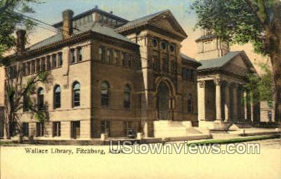 Wallace Library - Fitchburg, Massachusetts MA Postcard