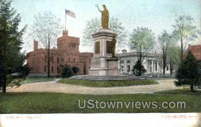 Monument Square - Fitchburg, Massachusetts MA Postcard