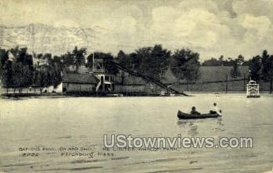 Bathing Pavilion, Whalom Park - Fitchburg, Massachusetts MA Postcard