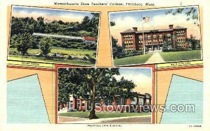 Mass State Teachers College - Fitchburg, Massachusetts MA Postcard