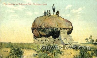 The Boulder, Rollstone Hill - Fitchburg, Massachusetts MA Postcard