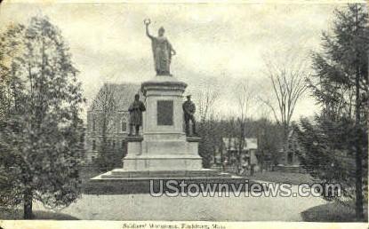Soldiers' Monument - Fitchburg, Massachusetts MA Postcard