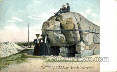 Boulder, Rollstone Hill - Fitchburg, Massachusetts MA Postcard