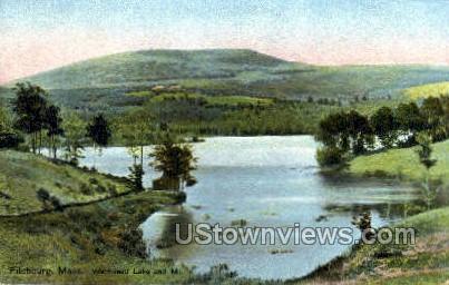 Wachusett Lake & Mountain - Fitchburg, Massachusetts MA Postcard