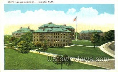 State Teachers College - Fitchburg, Massachusetts MA Postcard