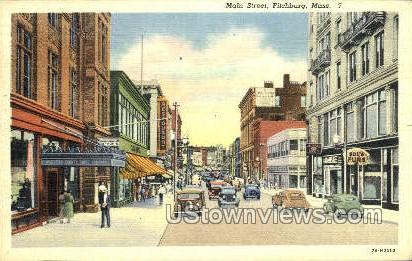 Main St. - Fitchburg, Massachusetts MA Postcard