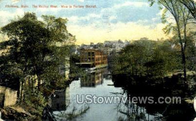 The Nashua River - Fitchburg, Massachusetts MA Postcard