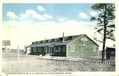 301st Y.M.C.A. Hut - Fort Devens, Massachusetts MA Postcard