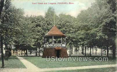 Band Stand & Common - Foxboro, Massachusetts MA Postcard