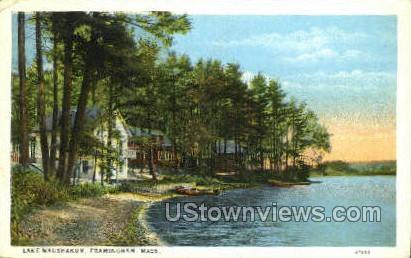 Lake Waushakum - Framingham, Massachusetts MA Postcard