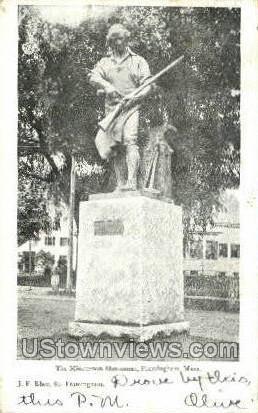 The Minuteman Monument - Framingham, Massachusetts MA Postcard