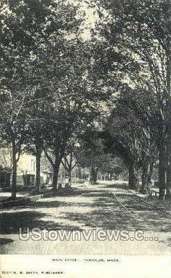 Main St. - Franklin, Massachusetts MA Postcard