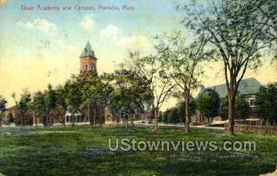 Dean Academy & Campus - Franklin, Massachusetts MA Postcard