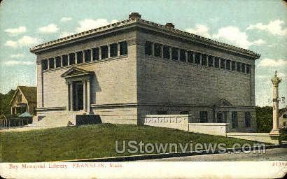 Ray Memorial Library - Franklin, Massachusetts MA Postcard