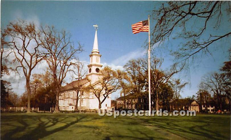 Falmouth Church & Green - Massachusetts MA Postcard