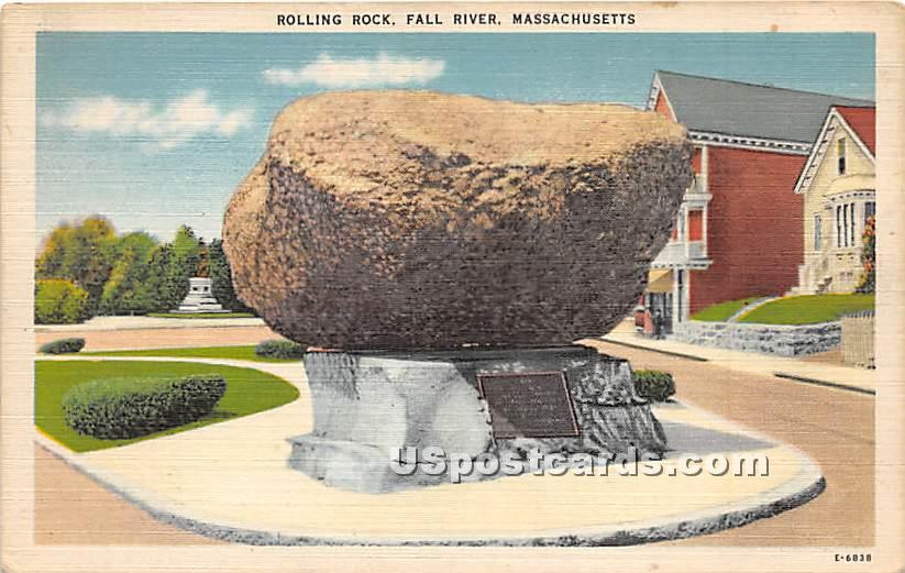 Rolling Rock - Fall River, Massachusetts MA Postcard